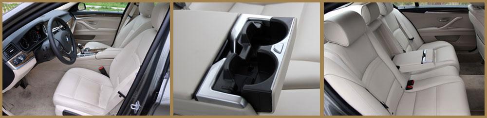 座椅采用象牙白色nappa真皮座椅(或黑色)