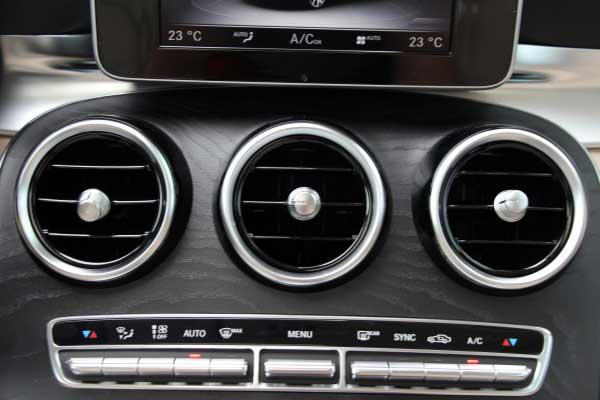 台州奔驰全新长轴距c级车新车实拍 空调系统